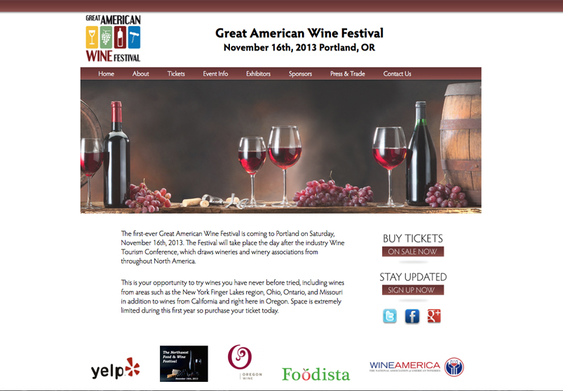 wine festival website