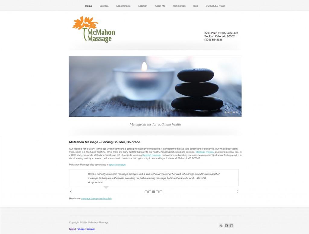 Massage therapist Website