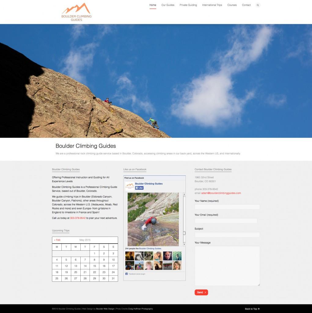 Boulder Climbing Guides Website