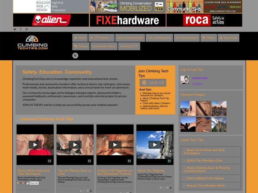 climbing website
